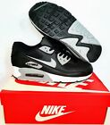 New Mens Nike Air Max 90 BLACK/ GREY Sizes Trainers Shoes