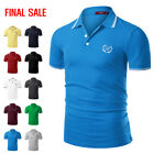 diesel polo for sale - [FINAL SALE]Doublju Mens Short Sleeve Point Collar Polo T-Shirt Top