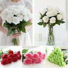 51cm 10-20 Heads Real Touch Rose Flowers Bouquet Wedding Party Home Decoration
