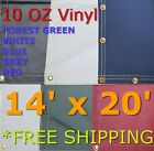 14' x 20' 10 Oz. Vinyl Waterproof Tarp - Truck Trailer Equipment Cover