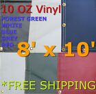 8' x 10' 10 Oz. Vinyl Waterproof Tarp - Truck Trailer Equipment Cover
