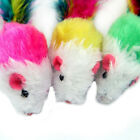 1/5/10x Fleece False Mouse Cat Toys Colorful Feather Playing Toys 5 cm*3cm JB