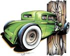 Rat Rod Hot Rod 5 Window Coupe T-shirt Small to 5XL
