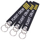 3XREMOVE BEFORE FLIGHT PILOT FOLLOW ME-Key Chain Luggage Tag Embroidery Keychain