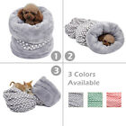 3 in 1 Pet Dog Sleep Bag Tunnel Kitten Egg Roll Bed Warm Soft Shape Cushions