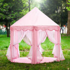 toy house outdoor - Princess Castle Play House, Large Indoor/Outdoor Kids Play Tent Girls Pink Toys