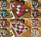 Plain Boxes Design Small Large Rug Door/Bath Mat Living Area Carpet Floor Runner