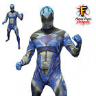 Deluxe Blue Power Rangers Mens Adult Morphsuit Fancy Dress Costume