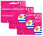 Cheap International calling card for Uruguay with emailed PIN