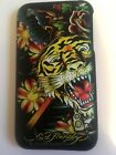 RIGID PLASTIC BACK CASE / COVER FOR APPLE iPHONE 3 3GS - ED HARDY TIGER DESIGNS