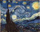 Starry Night by Vincent Van Gogh, Giclee Canvas Print, in various sizes