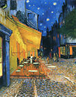 Cafe Terrace at Night by Vincent Van Gogh, Giclee Canvas Print, in various sizes