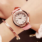 Fashion flowing rhinestone Women Quartz watch PU Leather Elegant ladies watch