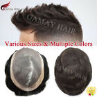 Внешний вид - Promotion Men's Toupee Fine Mono Poly Around Hairpieces Human Hair Replacements