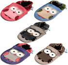 MINIFEET SOFT LEATHER BABY SHOES 0-6,6-12,12-18,18-24 Months & 2-3 Years - OWLS