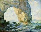 The Manneport Rock Arch by Claude Monet, Giclee Canvas Print, in various sizes
