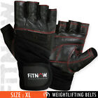 Weight Lifting Gloves Gym Fitness Body Building Training Black Glove M,L,XL