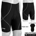 Mens Cycling Shorts MTB Padded CoolMax Bicycle Bike Compression Lycra Black
