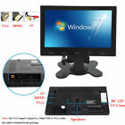"7""/9""/10"" PC Screen LCD Monitor AV/RCA/VGA/HDMI 1080p for DSLR/PC/CCTV Camera"