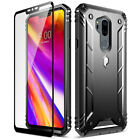 For LG G7 ThinQ 3 Color Shockproof Case Poetic【Revolution】Rugged Bumper Cover <br/> In stock*Dust Flaps *With Tempered Glass