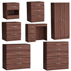 Riano Chest Of Drawers Bedside Cabinet Dressing Table Wardrobe Bedroom Walnut