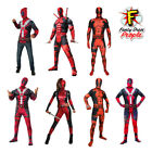 Adult Deadpool Fancy Dress Costume Mens Ladies Superhero Comic Movie Film Outfit