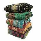 Indian Handmade Vintage Kantha Quilt Reversible Throw Old Railli Gudri Lot