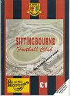 SITTINGBOURNE HOME PROGRAMMES 2000 TO DATE UPDATED
