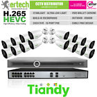 Tiandy 8/10/12/14/16 Starlight IP Camera CCTV Kit Bundle Security System POE
