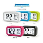 Smart Digital Electronic Alarm Clock With LCD Temperature Date Nightlights Gift