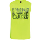 Harley-Davidson® Men's Safety Green Rough Split Sleevless Muscle Tee - R002741 $33.95 USD on eBay