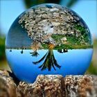 50-100MM Crystal Clear Quartz Ball Glass Sphere Decor Photography Lens Props