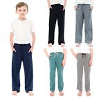 TINFL Boys Various Textile Material Solid Casual Lounge Sleep Pajama Pants 6-14Y