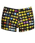 Women's Emoji Emoties Emoticons Smiley Icons Printed Summer Shorts Hot pants