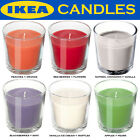Ikea Scented Candle in a Glass Coloured Wedding Home Party BBQ Tealight 25 Hour