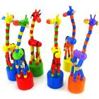 Funny Kids Intelligence Toy Dancing Stand Colorful Rocking Animals Wooden Toy