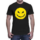 Evil Smiley Face- Creepy Mischeif Danger Mens T-Shirt