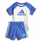 adidas Infant Baby Toddler Boys Summer T-Shirt & Short Set White/Blue