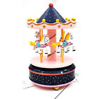 Wooden Merry-Go-Round Carousel Music Box for Kids Child Christmas Birthday Gift