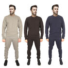 MENS RIBBED TRACKSUIT FLEECE TROUSERS TOP BOTTOM SWEATSHIRT PANTS FULL SET SIZE