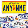 Personalised American Number Plate - Metal Wall Plaque Art - USA Licence Muscle
