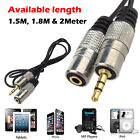 1.5M 1.8M 2M 3.5mm Stereo Audio Jack Male To Female Extension Cable PC Mobile