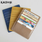 Vintage Genuine Leather Credit Card ID Holders Passcard Card Holder Wallet Card