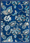 NEW BLUE MODERN (#210) TRADITIONAL FLORAL RUG APRX SIZES: 2X3 2X7 4X5 5X7 8x11