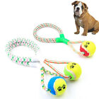 Cotton Braided Rope Ball Pet Biting Grinding Toy Training Accessories Natural