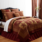 Farmhouse NINEPATCH STAR (LUXURY KING) QUILT,Shams,Skirt,Pillow,**YOU CHOOSE**  image