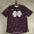 Adidas ClimaLite Mississippi State Bulldogs Player SS Crew Shirt Maroon White SZ