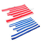 STRIPE VEST PLASTIC CARRIER BAGS RED AND BLUE SHOPPING SUPERMARKETS  [ALL SIZES]