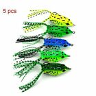 1/5pcs Artificial Spinner Sinking Rubber Frog Soft Fishing Lures Bass Bait