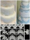 11 PIECES LACE APPLIQUE SET - CAKES,CUPCAKES/COOKIES - BABY SHOWER/BIRTHDAYS